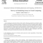 بررسی مسائل زمانبندی در محاسبات ابری