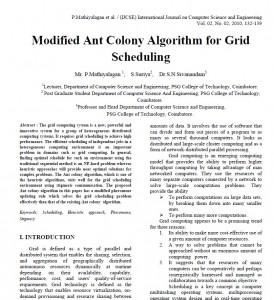 الگوریتم اجتماع مورچگان تغییریافته برای زمانبندی گرید